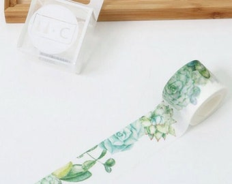 Succulents Washi Tape Masking Tape Planner Stickers Scrapbooking Stickers