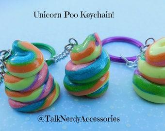 Unicorn Poo Keychain
