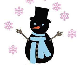 Let it Snow Snowman SVG