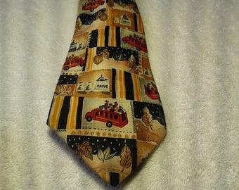 VINTAGE KIABI FIRETRUCK necktie
