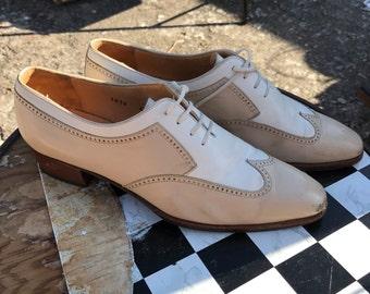 Women's Vintage White/Beige Oxford Shoe