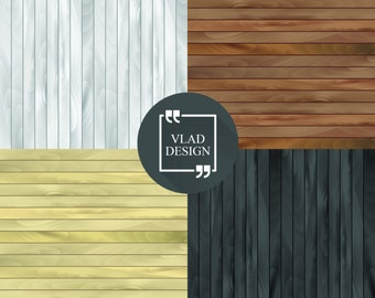 "4 Wooden Background DIY Printable Digital paper 15""x15"" Wood digital paper Wood textures Brown wood Grey wood Yellow wood Black wood"