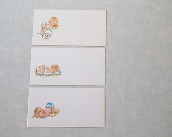 LOT 55 Vintage unused printable Birth Announcement cards