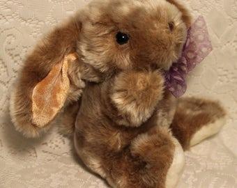 Velvety Soft Bunny Rabbit ~Lop Eared Bunny ~ Stuffed Animal Plush Toy ~ Easter Bunny ~