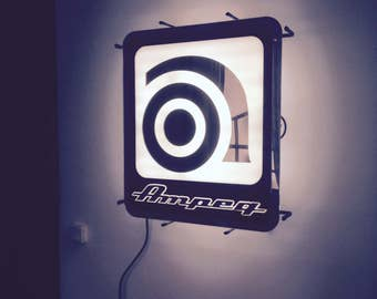 neon sign lighting vintage ampeg teaches advertising ads