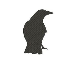 6 sizes - Crow Embroidery Design, Halloween Embroidery Design, Bird Embroidery Design, Scary Embroidery Design, Machine Embroidery Design