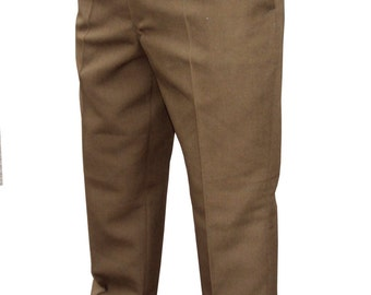 British Army Uniform Mans Barrack Dress Trousers/Pants - Brown/Fads -Used