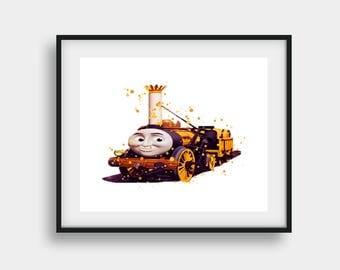 Disney Print, Thomas the Train, Stephen Art, Thomas Art Print, Train Print, Thomas Print, Thomas Poster, Thomas and Friends, Thomas Gifts