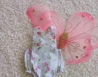 CLEARANCE / Floral Romper / Floral Print / Baby Girls Clothing / Pretty pink romper