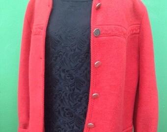 Tirol jacket | Wool Jacket | Vintage jacket | Giacca tirolese | Vintage giacca | Red jacket | 90s Jacket| Mod Jacket | Made in Italy