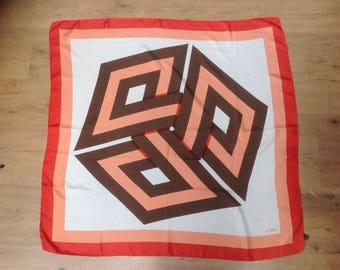 70s Vintage Fendi Fendi scarf////////vintage Silk Scarf Fendi Fendi scarf Fendi Scarf//vintage 70s