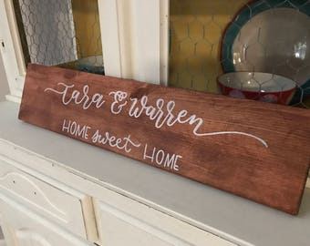 Personalized Last Name Wood Plank