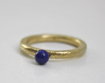 Gold Ring & lapis