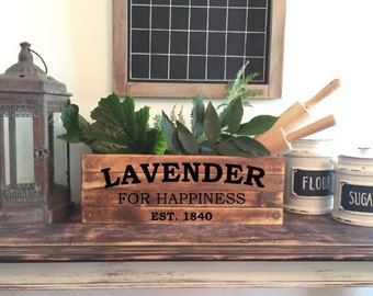 Decorative wooden crate