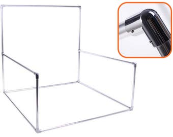 Metallic Photography Backdrop Stand for Newborn - Aluminum Tubes, Stainless Steel Connectors READY TO SHIP