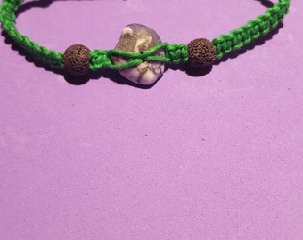 Aromatherapy Bracelet with Polished Stone