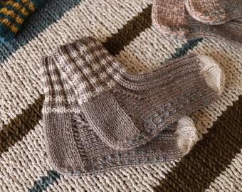 Socks baby baige clear/Brown, 12-15 months, anti-slip