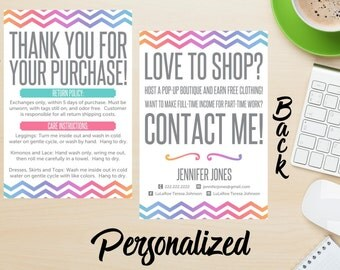 Pop up Boutique Card | Consultant Care Card | Business Card | 4x6 Two Sided Card **DIGITAL FILE ONLY**