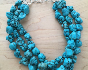 SALE Bold Turquoise Necklace