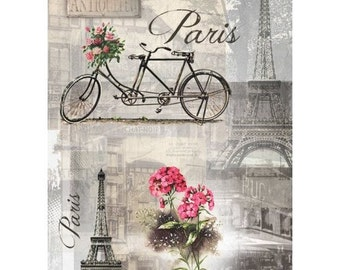 1 sheet of rice paper 21 x 28 cm cutting collage VINTAGE PARIS 499