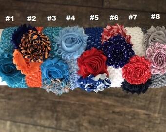 Chiffon Flower Crochet Mesh Headbands