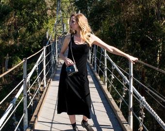 Black velvet, vintage dress. vintage