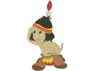 Little Hiawatha Disney the Silly Symphonies Embroidery Design 3 sizes Instant DOWNLOAD
