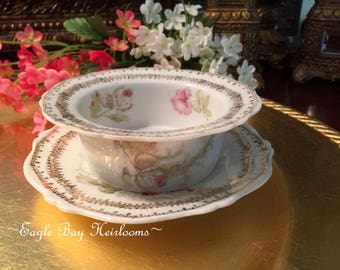 Porcelain Ramekin - Liner/Saucer - O. & E.G. Royal Austria - Pink Rose Luster - c.1898 to 1918