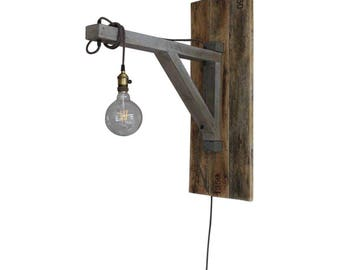 "Hanging lamp, ""Ingmar"", Reclaimed Wood, Minimalist, Design, Waxed Wood, Lighting"