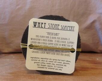 Fresh Dirt shaving tallow soap