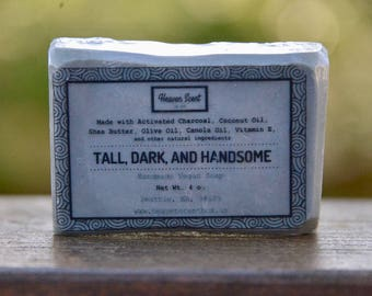 Christmas Gift For Him - Activated Charcoal Soap Bar- Man/Masculine Scent