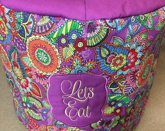 6qt Instant Pot Cover. Purple floral