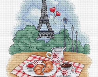 "Cross stitch pattern ""Paris"""