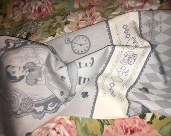 Gift for girls: towel Alice and the rabbit-Dishtowel Alice's Rabbit for children