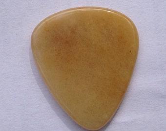 Plectrum-Semi-Precious Stone Guitar Pick, Beautiful Tawny Agate #011