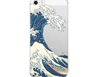 The Great Wave Iphone Case, Iphone 6 Case Clear, Iphone 7 Case, Iphone 5s Case Clear, Iphone SE Case Clear, Iphone Case Clear, Iphone 5 Case
