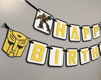 Transformers Birthday Banner / Transformers Party Decor / Transformers Birthday Party /