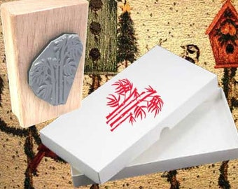 Bamboo Design Rubber Stamp
