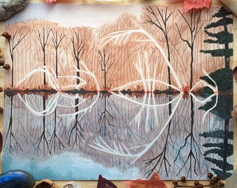 Wooded Reflection - Original Painting