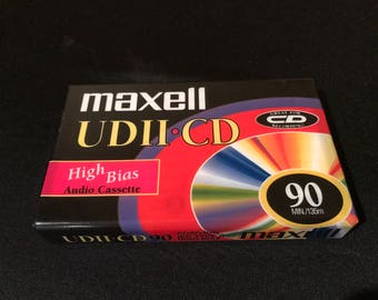 Maxell UDII CD 90 minute type two type II blank audio cassette tape new in original packaging high bias
