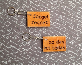Rent Musical Quotes Keychain Wood Keychain Rent Gift