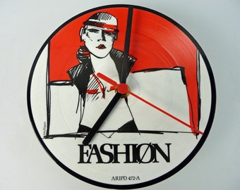 "Fashion - Something In Your Picture 7"" Picture Disc record Clock"