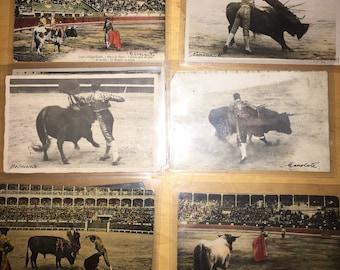 26 old post cards photos Toros (Spain)