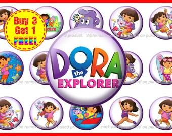 Dora the Explorer- Dora Bottle Cap Images - Instant Download - High Resolution Images - Buy 3, Get 1 FREE