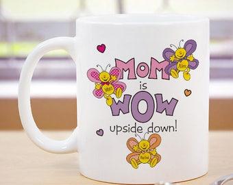Personalized Mom is Wow Mug Custom Name Gift