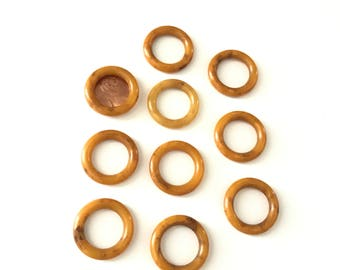 Vintage Butterscotch Bakelite Rings