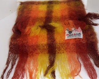 Awsome autumnal vintage mohair scarf