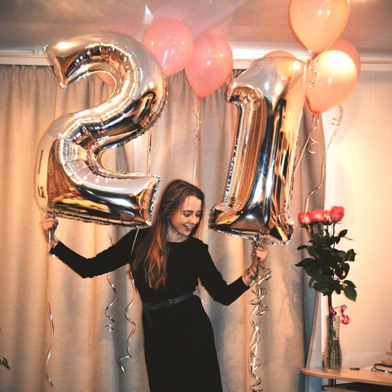 40 Inch Silver Number Balloons 40 Quot Silver Foil Balloon