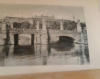 Architectural ephemera book original  print photo