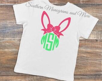 Easter Shirt, Girls Easter shirt, Childrens Easter shirt, Kids Easter shirt, Monogram Bunny shirt, personalized Easter shirt, Monogram Shirt